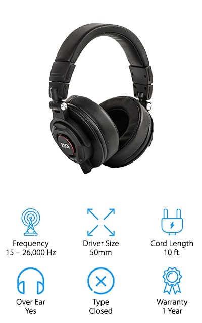 LyxPro HAS-30 Recording Headphones