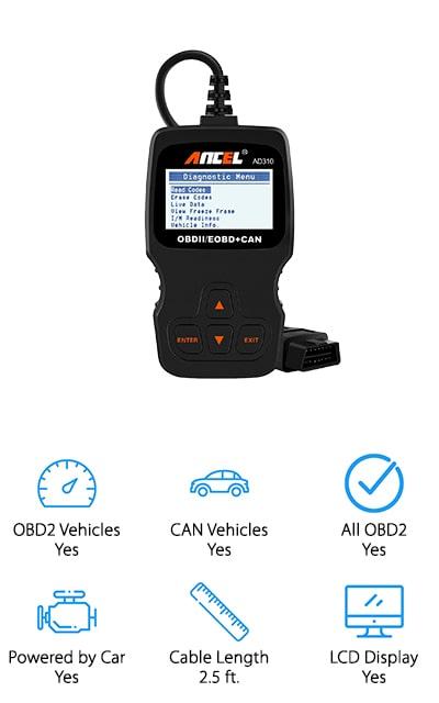 ANCEL Universal OBD II Scanner