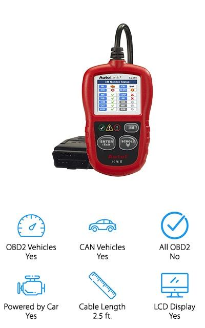 Autel AL319 OBD II Scanner
