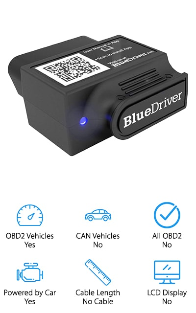 If you're a professional mechanic looking to upgrade your OBD2 tools, or you're a DIY mechanic that wants the best, this scanner from Lemur is a great option to get accurate information quickly. We like that this scanner pairs up with both Android and iOS devices, so you can use your phone or tablet to view, save, and send diagnostic reports to whoever needs it. All you have to do is connect the device to your car, connect the Bluetooth to your phone, and use the BlueDriver app to see your diagnostic data right on your phone screen! Once you run the diagnostics, the app will give you the option to create repair reports you can either give to your mechanic or as a mechanic you can give them to your clients. We think this is a great diagnostic tool for anyone looking to get accurate information from their car, and get accurate advice on how to best repair problems!