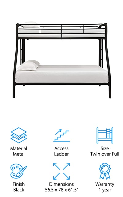 DHP Metal Frame Bunk Bed