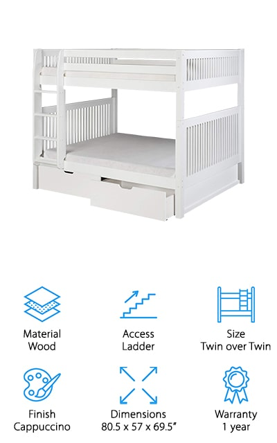 Camaflexi Mission Bunk Bed
