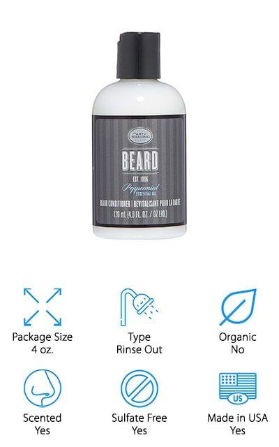 This option is a beard conditioner that comes in a small size so you can take it with you a whole lot easier. It's designed to nourish and condition the hair of your beard to get you the softness that you're looking for as well as the shine that you will really love. It even has ingredients like jojoba seed oil. All you have to do is massage it right into your skin and your beard and before you know it you're going to start seeing some great results. The peppermint and other essential oils are going to make your beard smell great at the same time. It's even made by a company that definitely knows what they're doing when it comes to high quality products and shaving products as well.