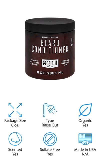 This top beard conditioner is made to nourish your beard and to really hydrate your hair. It's great for cutting down on frizz and improving the softness and the smoothness of your beard as well. Check out how this product really cuts down on any unruliness that you might have and make sure it has all the best ingredients too. This one uses botanically infused and all natural ingredients like marshmallow root, nettle leaf, shea butter and aloe vera. All of these will help to hydrate, clean and improve your skin as well as your beard. If you really want to improve the way that your skin looks you're going to want to add in the rest of the line to get all the great benefits. Just set them all up in your bathroom and start your routine and before you know it your beard is going to be the best around.