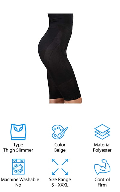 The Troll Tree Slimming Shapewear is an above the knee corset made to slim your thighs and unwanted belly fat. It's made from polyester and spandex to give you enough stretch and breathability to wear all day. This corset style gives you a seamless hourglass look from tummy to thighs. This shapewear can also be used as a waist trainer as it will help you lose inches when you work out, too. If you're looking for postpartum shapewear, this product will make you feel like yourself again while you work on getting your body back. It's nonbinding and doesn't roll over when you wear it for long periods of time making your shapewear undetectable to anyone but yourself. You can grab a pair of this shapewear in either black or beige, depending on what your outfit calls for. Either way, you'll be happy you bought the Troll Tree Slimming Shapewear as it gives you high compression, comfort, and can be worn to any function and even the gym!