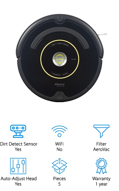 If you want spotless floors every day, the Roomba 650 is the perfect smart vacuum for you. This model can be scheduled to clean your home up to 7 times per week. Just set the time and watch as your floors stay spotless every day! The 650 is approximately 3.6 inches tall, making it the perfect size to clean under couches, tables, and chairs. The 3-stage cleaning system agitates messes, brushes them up, and stores them away leaving no trace of a mess behind. This vacuum also has a full set of sensors to help deter it from hitting your precious furniture pieces or running into objects, even if you move things around. Once it's done cleaning or runs out of battery, the Roomba will return to its charging dock to recharge for the next round of cleaning. With all that said, dirt has no place to hide when you have a Roomba 650 in your home.