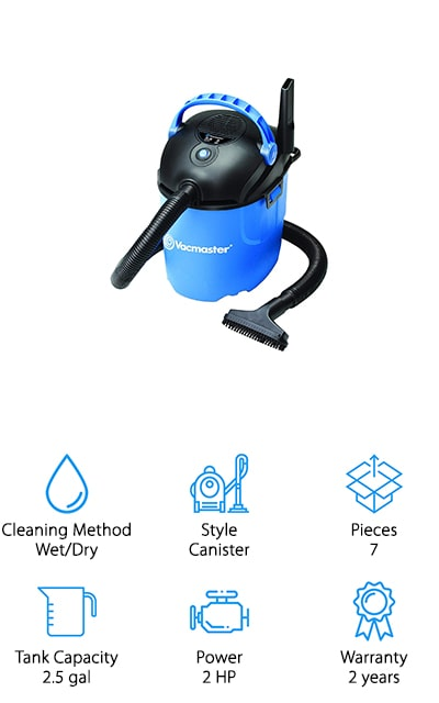 The Vacmaster Wet/Dry Vacuum is truly the master of value car-detailing vacuums. If you're looking to clean big messes on a small budget, the Vacmaster handles both wet and dry stains and spills. This vacuum comes with a crevice tool, cleaning brush, reusable foam sleeve, and a cloth filter to keep the mess in. Easily store away these accessories on the vacuum itself so you won't ever lose a thing. The Vacmaster also comes with an Auto Shutoff to prevent overflow so you'll never have to worry about a secondary mess. You can also use both the vacuum and blowing settings to clear the mess away from hard to reach places and clean it up afterward. You can even buy these vacuums in several different packages to have a vacuum in every space you need one. With a Vacmaster, you have the ability to clean big messes in your vehicle on a tiny budget, and what's better than that?