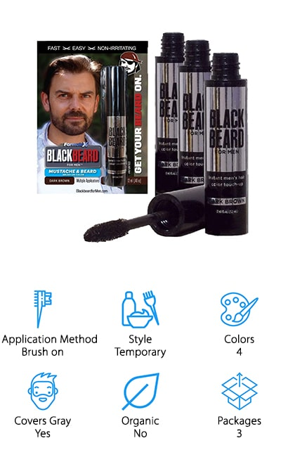 Blackbeard for Men Beard Color