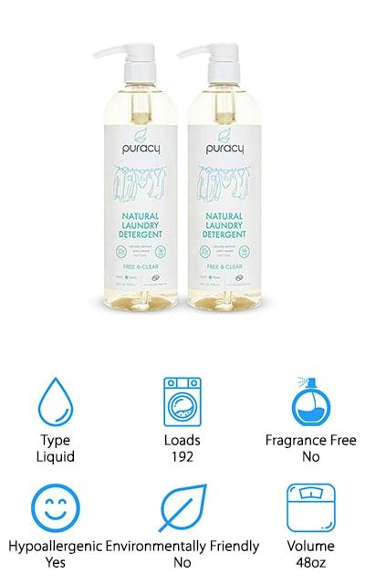 Puracy Natural 10x Liquid Detergent