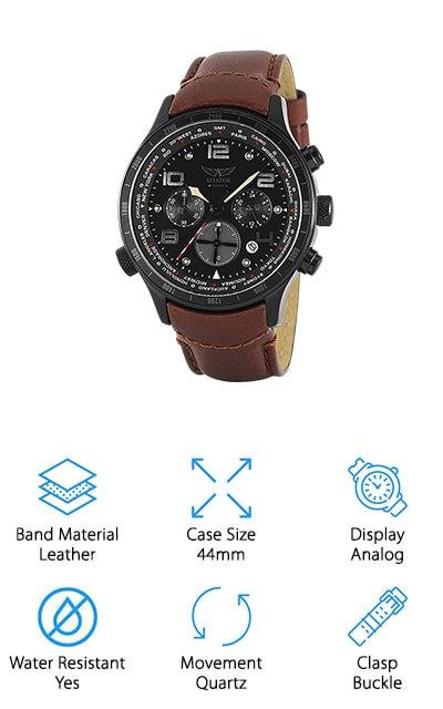 Aviator Pilot Chronograph Watch