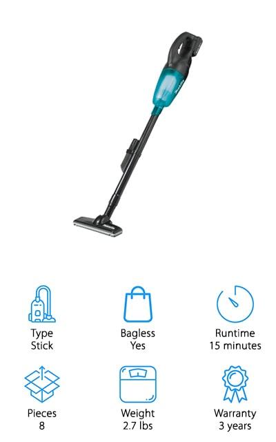 Makita XLC02R1B Vacuum