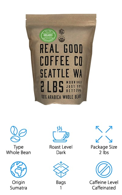Real Good Coffee Co Whole Bean