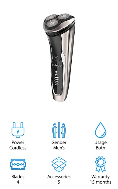 Phisco IPX7 Electric Razor