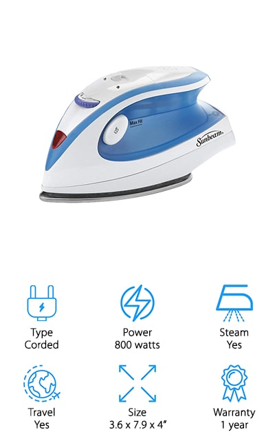 Sunbeam Hot-2-Trot Travel Iron