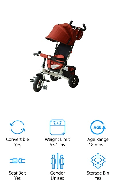 Qaba Convertible Tricycle