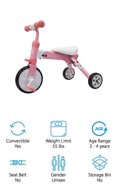 XJD 2 in 1 Toddler Tricycle
