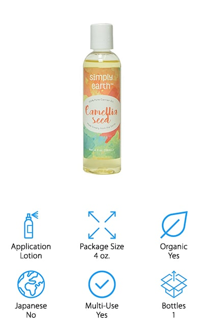 Simply Earth's Camellia Seed Oil