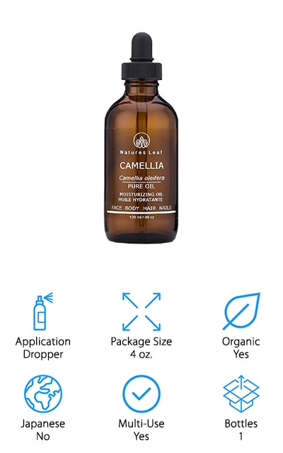 This dropper style oil will provide you with just the right amount of oil all at once. It's 100% pure and made with cold pressed seed oil. That means it's designed to help everything from your skin to your hair and nails. Hypoallergenic and noncomedogenic, you don't have to worry about the way that it sits on your skin. It's extremely light and gentle, which means it doesn't clog your pores. Even for those who have skin conditions will be able to use this product. If you have scars or stretch marks or any kind of skin injury it can help with the healing process. Use this soft and simple oil to improve dryness in your scalp, improve the shine of your hair, and strengthen brittle nails and even works for removing makeup. Full of vitamins, it's an excellent massage oil or it can be used for standard daily use as well.
