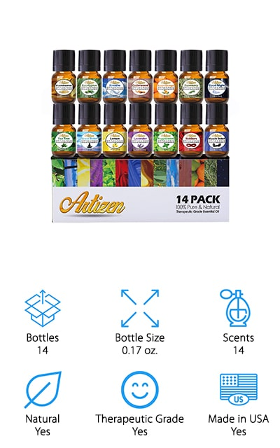 Artizen Essential Oil Set