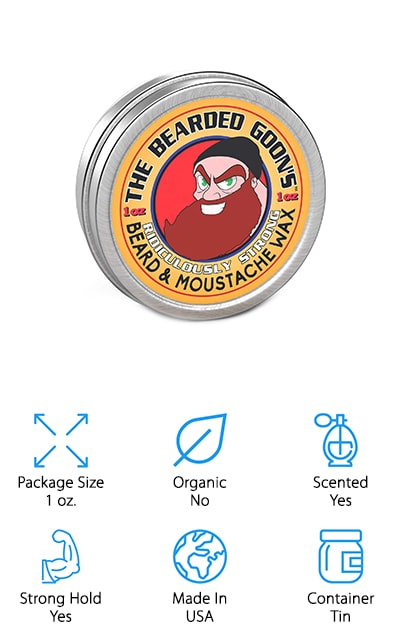 Anyone who wants a strong hold is going to want to check out this product that's designed to really give you the strength you need. It's great for your beard or mustache and even though it's a small tin, it packs a really good punch. It keeps even the rowdiest and untamable hairs right where you want them to be. Because it's made with natural products it's also safer for your skin and your beard and makes your hair feel smooth and soft. You get only the natural scent of the beeswax and other natural ingredients that are part of this product, without added scents. It's also cruelty-free so you can feel better about using it and the way that it works for you. It's made entirely in the United States and it's going to be easy enough for you to use and carry whenever you want.