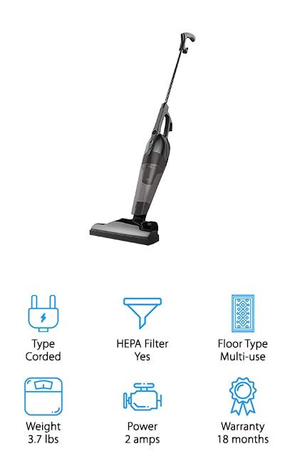 BESTEK Corded Stick Vacuum
