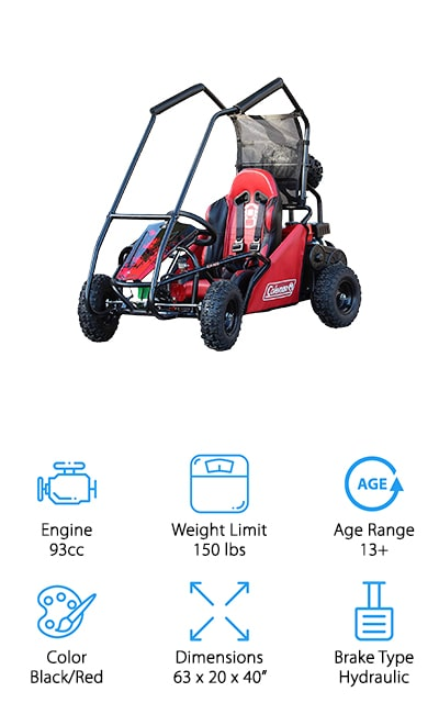 Coleman KT100 Gas Off-Road Go-Kart