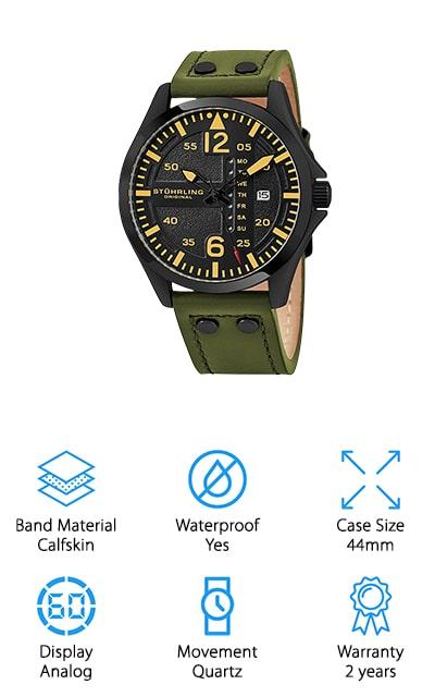 Stuhrling Sport Aviator Watch