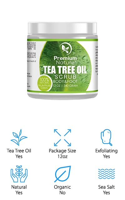 Premium Nature Tea Tree Foot Scrub