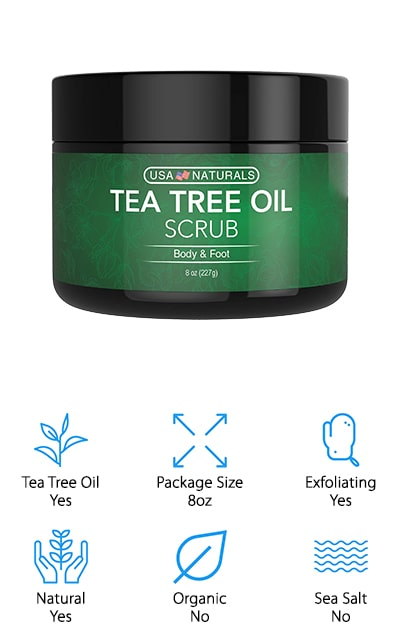 USA Natural Tea Tree Foot Scrub