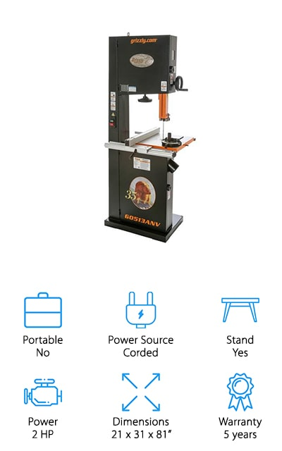Grizzly G0513ANV Bandsaw