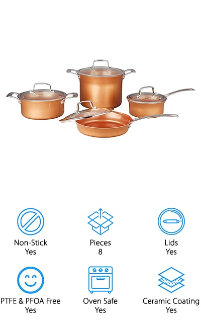CONCORD Copper Cookware