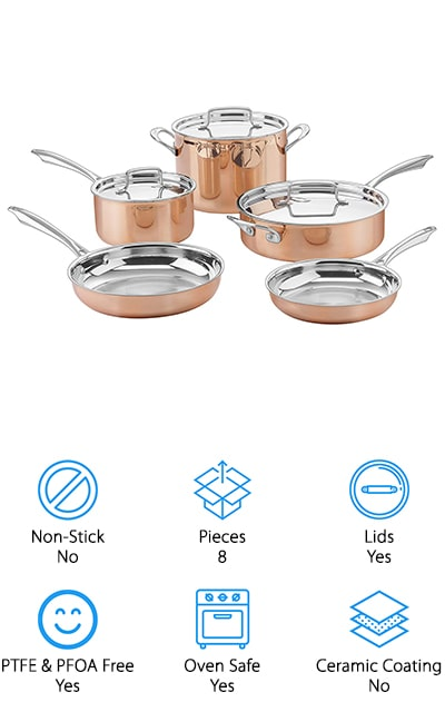 Cuisinart Copper Cookware Set