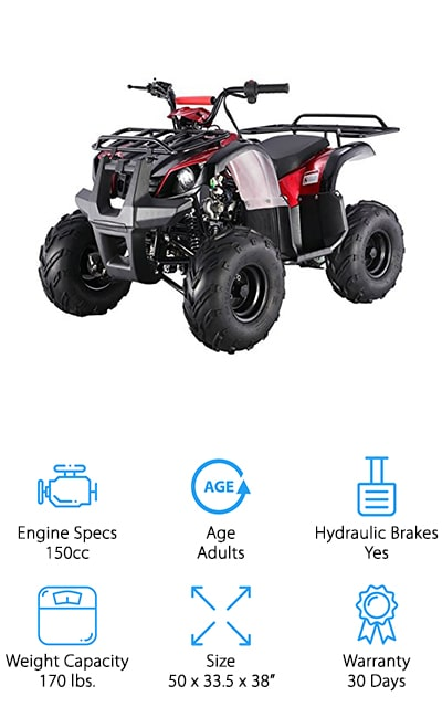 If you live in California, you know finding CARB-approved quads for sale can be tough. This youth ATV from SaferWholesale is not only CARB-approved, but it's also fun to ride! We like that this ATV is heavy duty, with large wheels and sturdy frame that can take whatever terrain you ride onto! The push-button ignition and fully automatic motor make this easy for children to drive without extra training. To keep your child safe while they're learning to ride, it comes with a speed governor that allows you to set the top speed to as little as 5 mph. It also has a remote controlled kill switch that shuts the motor off if your child gets into a tough situation. To help keep them steady on the ATV, this model also has large, ridged footrest for extra control. Oh, and it also has two luggage racks for adding extra equipment, toys, and whatever else they need on their next fun adventure!