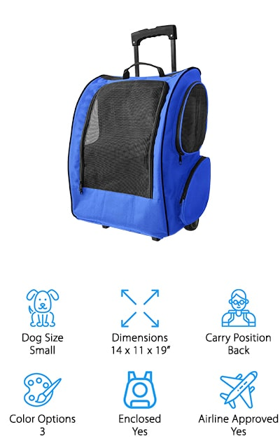 OxGord Paws & Pals Dog Backpack