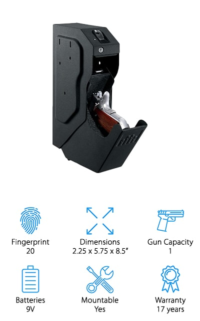 Gunvault Biometric Speedvault