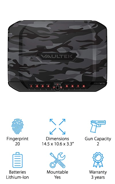 Vaultek VTi Biometric Gun Safe