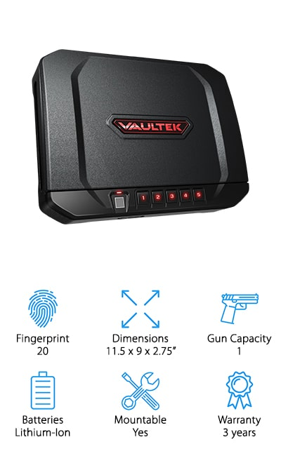 VAULTEK Biometric Handgun Safe