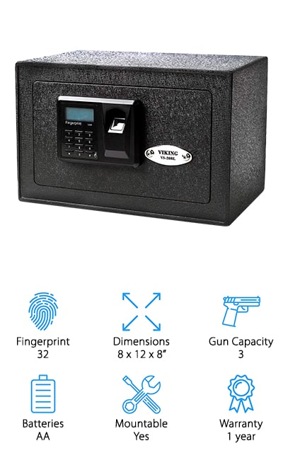 Viking Security Biometric Safe