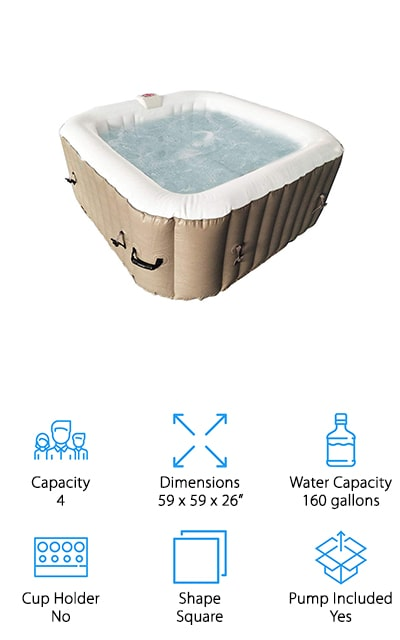 ALEKO Inflatable Hot Tub