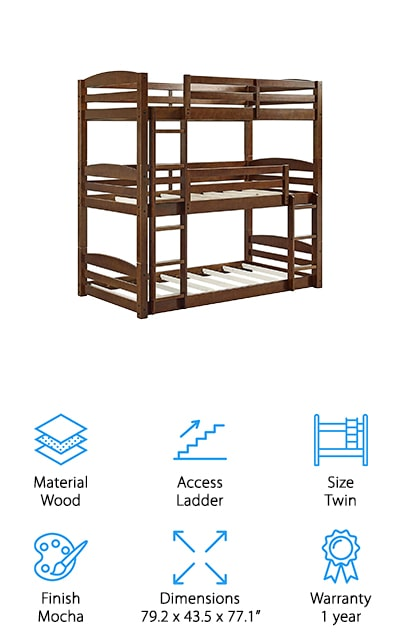 Dorel Living Triple Bunk Bed