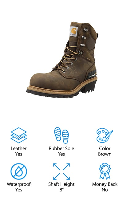 Carhartt Leather Logger Boot