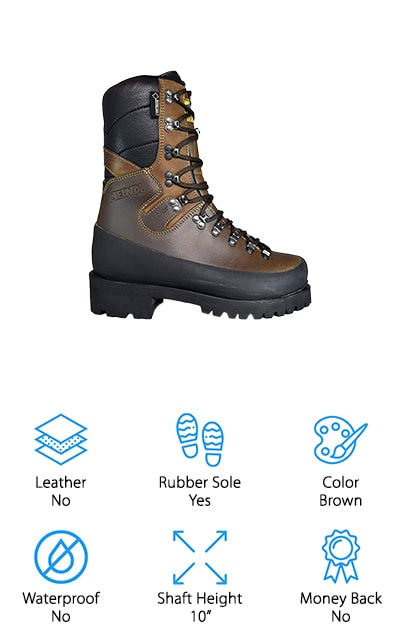 "These boots may be a little more expensive than some options but they also provide you with some great features. They have steel shanks that help you with climbing and they have a plain toe that still meets 2892-11 EH ratings. They have a water-resistant liner to keep your feet protected when you're out in less ideal conditions and have a 10"" shaft that reaches from the arch up over the ankle. These lineman boots are designed to really protect you and give you support and traction at all times. Available in several men's sizes, including half sizes, these boots are ones that you'll definitely want to have if you're going to be outdoors for an extended period of time and especially if you're working out there."