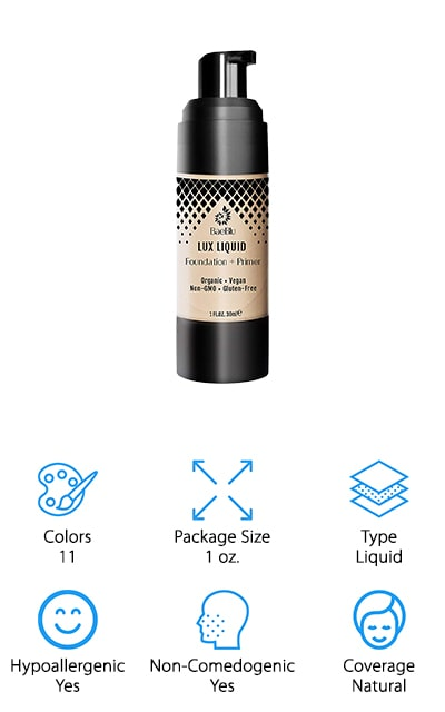 BaeBlu Lux Organic Foundation