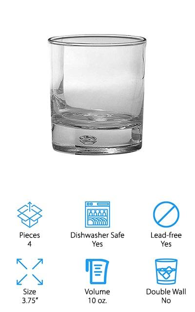 Circleware Whiskey Drinking Glasses