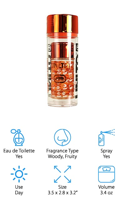 If you were trying to find a cologne that smells like summertime, Marc Ecko Unltd Exhibit would be a perfect choice. The scent starts off with a combination of orange and apple then adds a hint of lavender, cardamom, and sugary lemon sweetness. It also has a woody, earthy base that makes the overall profile very masculine. This cologne is best suited for everyday wear but can work well in certain formal situations, especially when it's summer and the sun doesn't set until later in the evening. This is a subtle smell that will last a few hours before needing to be reapplied. The bottle looks like a can of spray paint and the artwork was done by a famous Spanish graffiti artist named Pez.