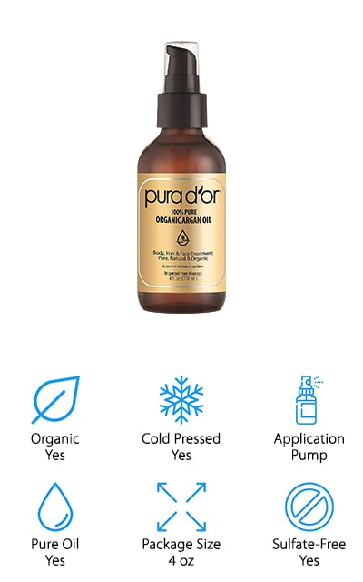 Pura D'Or Moroccan Argan Oil