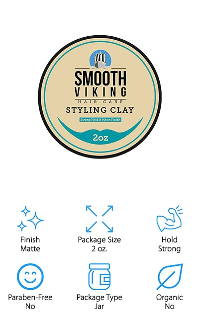 Smooth Viking Hair Styling Clay
