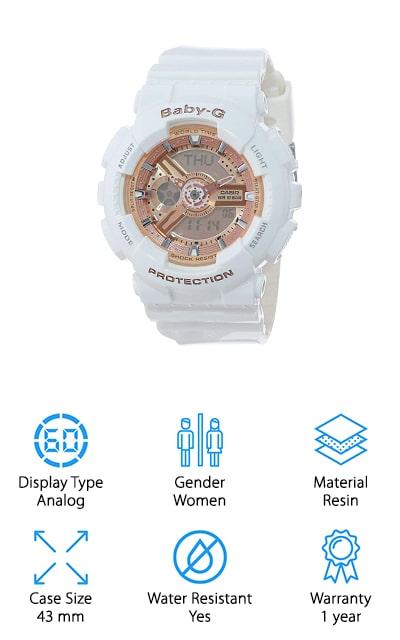 Casio Baby-G Rose Gold Watch