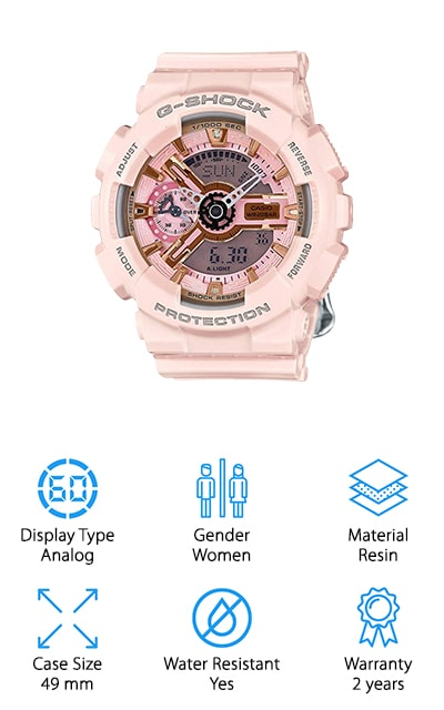 Casio G-Shock Gold and Pink Dial Watch