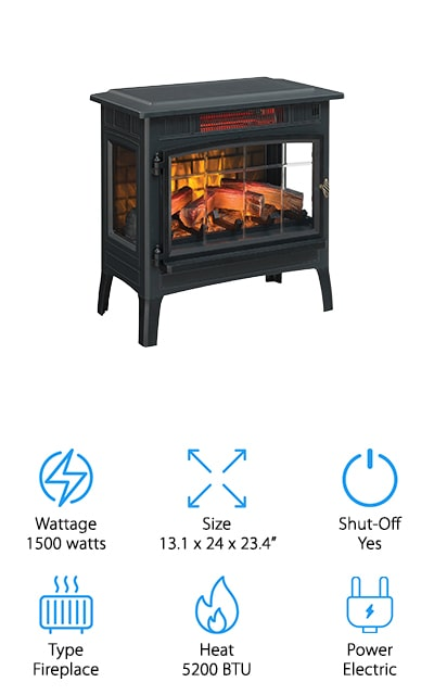 Duraflame Infrared Fireplace Stove